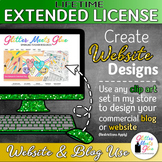 LIFETIME EXTENDED LICENSE FOR WEBSITE & BLOG USE: DESIGN YOUR OWN