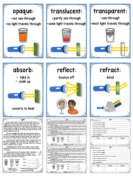 LIGHT ENERGY Differentiated Science Passages: Energy Series