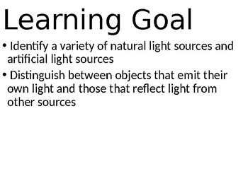 LIGHT LESSON 1