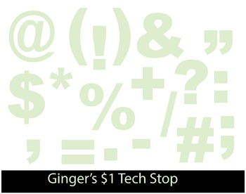 LIGHT / PASTEL GREEN * Bulletin Board * Symbols * Punctuation* EASTER * SPRING
