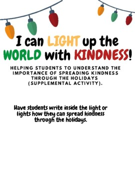 LIGHT UP THE WORLD WITH KINDNESS