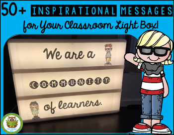 LIGHT BOX TEMPLATES FOR CLASSROOM MESSAGES AND MORNING MEETINGS