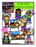 LIMITED EDITION! Bright KIDS, Scribble Elements {Kid Clipart}