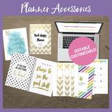 Editable Teacher Binder Accessories