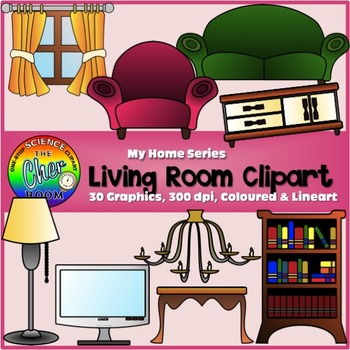Living Room Clipart (My Home Series I) by The Cher Room | TpT