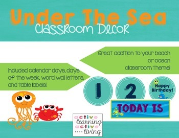 **GROWING BUNDLE** Under The Sea Classroom Decor