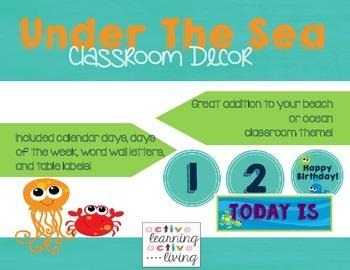 **GROWING BUNDLE** Under The Sea Classroom Decor
