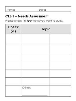 LINC - CLB 1 Needs Assessment