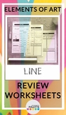 LINE- Elements of Art Worksheet REVIEW Packet
