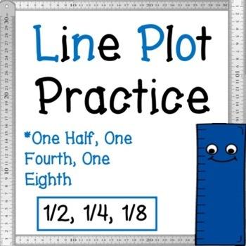 """Line Plot """"Nearest Quarter AND Nearest Half inch"""" PRACTICE!!"""
