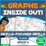 LINE PLOTS, BAR GRAPHS & PICTOGRAPHS UNIT! 15 Scaffolded, Skills Practice Drills