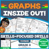 3RD GRADE GRAPHS: BAR, PICTURE, & LINE PLOTS - 15 Skills-Boosting Worksheets