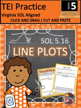 TEI Technology Enhanced Item Printable Practice LINE PLOTS  VA SOL 3.17