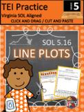TEI Technology Enhanced Item Printable Practice LINE PLOTS