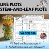 LINE PLOTS | STEM-AND-LEAF PLOTS GRADE 5 VIRGINIA SOL 5.16