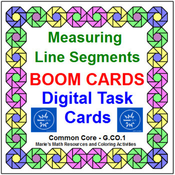 "LINE SEGMENTS: ""DIGITAL"" BOOM CARDS (20 TASK CARDS)"