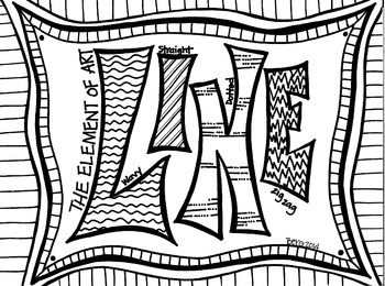 LINE coloring sheet