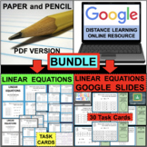 LINEAR EQUATIONS Graphing BUNDLE (PDF & Google Docs)