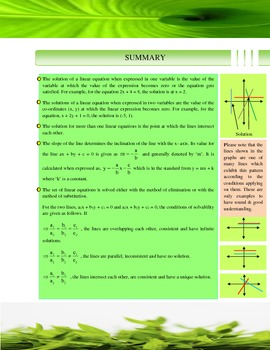 LINEAR EQUATIONS simplified