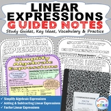 LINEAR EXPRESSIONS Doodle Math - Interactive Notebooks (Gu