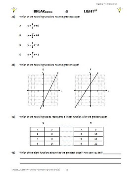 9040 - LINEAR FUNCTIONS - Comparing Slope