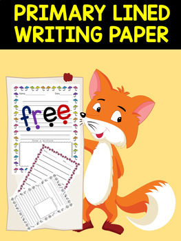 PRIMARY LINED WRITING PAPER - With Drawing Frames - FREE