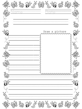 PRIMARY LINED WRITING PAPER - With Drawing Frames