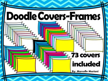 LINES DOODLE COVER PAGES (73 covers) Personal & Commercial Use