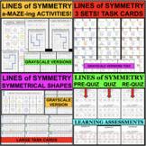 LINES OF SYMMETRY SYMMETRICAL FIGURES BUNDLE Differentiate