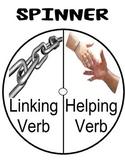 LINKING/HELPING VERB GAME; GRAMMAR/LANGUAGE CENTER