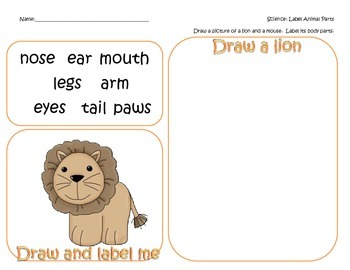 LION AND MOUSE FREEBIE