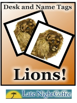 LION Desk Tags and Name Tags-Color and B/W