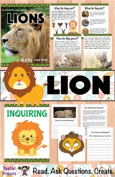 All About Lions Nonfiction Unit
