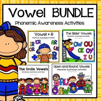 LIPS Phonemic Awareness Supplemental Activities BUNDLE:  The VOWELS