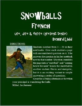 LIRE DIRE ECRIRE Snowballs FRENCH