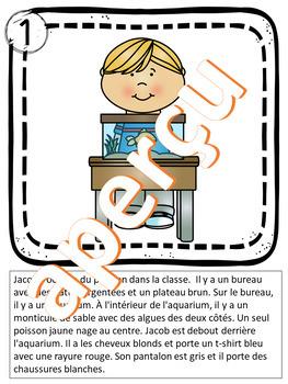 LIS OU ÉCOUTE ET DESSINE - L'école - La rentrée - Série 1
