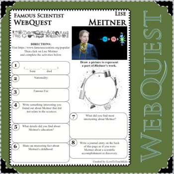 LISE MEITNER - WebQuest in Science - Famous Scientist - Differentiated