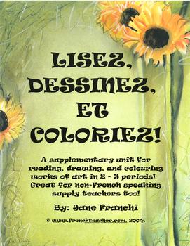 LISEZ, DESSINEZ ET COLORIEZ!  Junior/Intermediate Edition