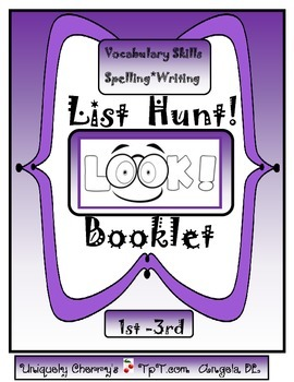 LIST HUNT! BOOKLET 1ST-3RD GR.
