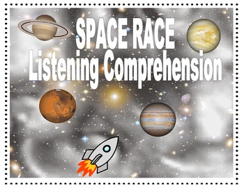 SPEECH THERAPY LISTENING COMPREHENSION SPACE RACE Game
