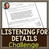 Listening for Details | Listening Comprehension | Speech a