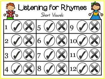 Listening for Rhymes Packet