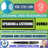 LISTENING AND SPEAKING SKILLS LESSONS BUNDLE