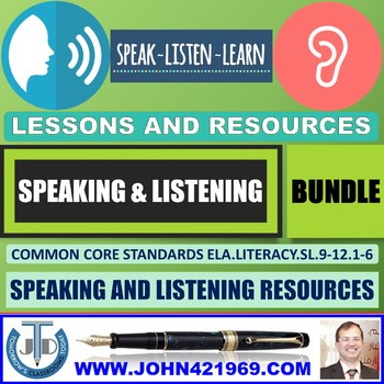 SPEAKING AND LISTENING LESSONS BUNDLE