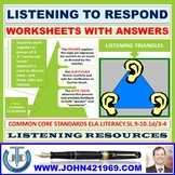 LISTENING TO RESPOND WORKSHEETS WITH ANSWERS