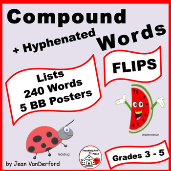 LISTS | COMPOUND WORDS | Interactive ♥ FLIPS | UNIT POSTERS |Gr 3-4-5 CORE