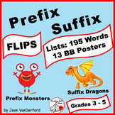 Prefix & Suffix LISTS   FLIPS ♥   Unit Vocabulary ... INTERACTIVE   Gr.3-4-5