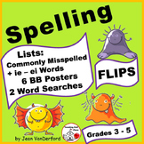 SPELLING LISTS ... Interactive FLIPS ♥ Commonly Misspelled Words UNIT  Gr. 3-4-5