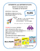 SYNONYMS & ANTONYMS LISTS ... Monster Theme  Gr. 3-4-5 Vocabulary FLIPS