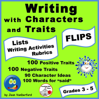 LISTS   Creative Writing   Characters & Traits   Interactive ♥ FLIPS   Gr. 3-4-5